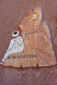 Ait Benhaddou, Morocco, tour operator sign