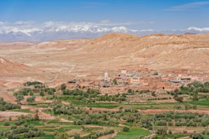 Atlas Mountains, Morocco, neighbouring village to Ait Benhaddou, desert, architecture, traditional