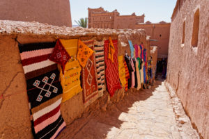 Ait Benhaddou, crafts, creative, Morocco, carpets, traditional, culture, colour, commerce