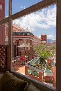 Chez Rafiq Restaurant, High Atlas Mountains, near Tizi n'Tichka mountain pass, decor, outside, tables, relaxation, design, architecture