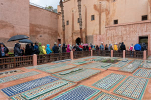 Marrakech, Morocco., Saadian Tombs, visitor queue, Islamic, Arabic, religion, design, archaeology