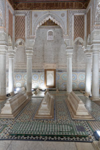 architecture, ceramic tiles, creative, decorative alabaster, marble columns, Marrakech, Morocco, Saadian Tombs, Islamic, Arabic, religion, design, archaeology