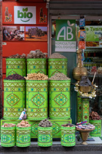 bio / organic foods, food shop, green, Marrakech, Morocco, the Medina, health, diet, flavour