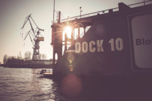 Dock 10 in the Port in Hamburg, Germany