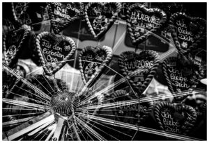 Hamburg at Night: Double Exposure Hamburger Dom 