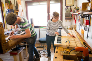 The Piano manufacture ' Klavierwerkstatt' of the Piano Makers Christoph and Sonja Czech