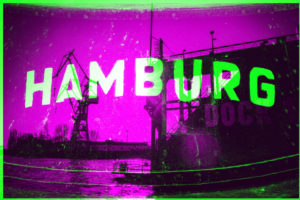Hamburg, abstract, double exposure, ship container and dock 10