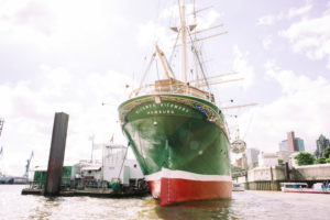 The Rickmer Rickmers, Hamburg and the Port, Germany