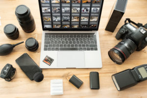 Photojournalist's workplace