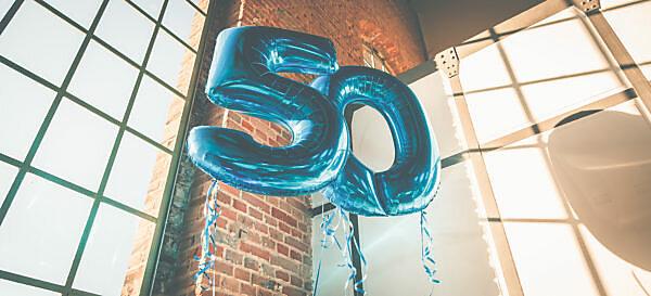 Luftballon zum fünfzigsten Geburtstag