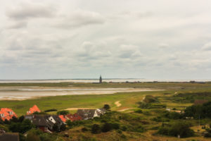 From lighthouse to lighthouse - view over the mud flats, island Wangerooge,