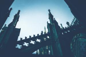 Der Kölner Dom, Nahaufnahme zur Blauen Stunde