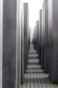 Memorial to the Murdered Jews Europe - Memorial to the Genocide in Berlin - Editorial use only.