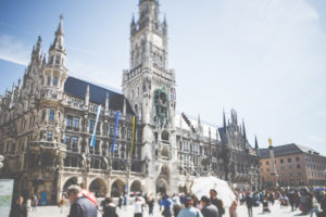 City view - the world famous Munich City Hall.