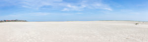 Amrum, an island in the German North Sea - sand as far as the eye can see. Wittdün