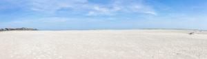 Amrum, eine Insel in der deutschen Nordsee - Sand soweit das Auge reicht. Wittdün