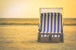A beach chair by the North Sea - relaxation in the Wadden Sea
