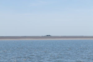 Solitude and tides - houses in the Wadden Sea, North Sea