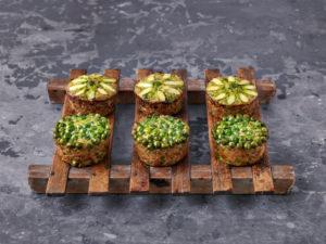 Quinoa Muffin mit Erbsen und Spargel