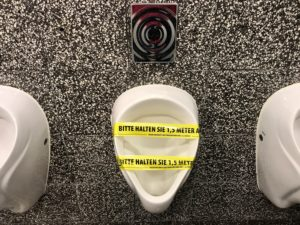 Advice on keeping a urinal in the context of the Corona exit restrictions