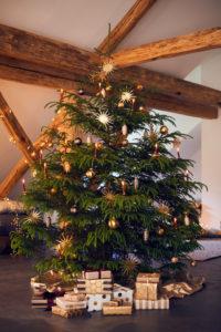 Christmas tree with Christmas presents, Still life Christmas