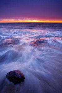 Sonnenuntergang, Ostsee, Küste, Darss, Weststrand, Nationalpark, Vorpommersche Boddenlandschaft