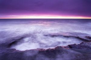 Sonnenuntergang, Strand, Ostsee, Darss, Nationalpark, Vorpommersche Boddenlandschaft, Deutschland
