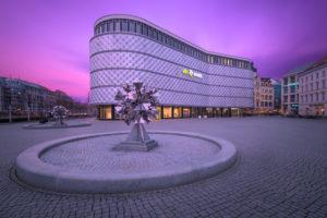Architektur, Aussenansicht, Blechbüchse, Sachsen, Leipzig, Deutschland, Europa