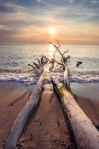 Sommer, Abendstimmung, Sonnenuntergang, Strand, Ostsee, Mecklenburg-Vorpommern, Deutschland, Europa