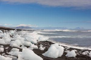 Gletscher, Berge, Gletscherzunge, Luftaufnahme, Skaftafelljökull, Island, Europa
