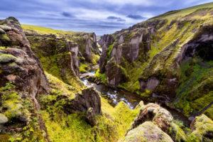 Fjadrargljufur, canyon, gorge, valley, river, cliffs, Iceland, Europe