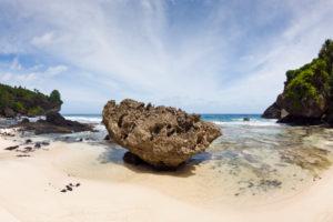 Remote Dolly Beach, Christmas Island, Australia