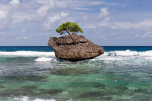 Beach of Flying Fish Cove, Christmas Island, Australia
