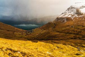 View of Funningur, Eysturoy Island, Faroe Islands