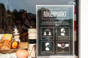 Rügen market at the Corona period, Sassnitz, Rügen Island