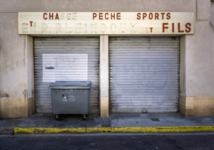 Aufgegebenes Geschäft in Narbonne