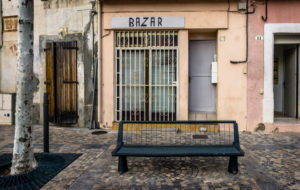 Closed bazaar in Coursan