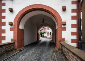 The only preserved town gate of the fortifications in Seligenstadt