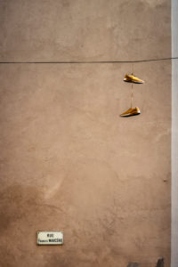 Hanging sneakers in Narbonne