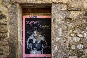 Graffiti von Muhammad Ali in Ceret