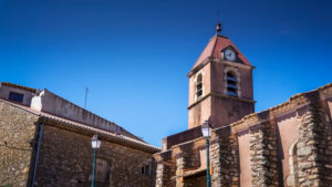 Saint Pietri Church in Summer in Assignan. It was built in the 17th century.