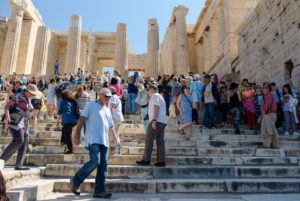 Visitation at the Acropolis in Athens, Greece
