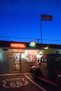 Motel an der Route 66 in Kalifornien, USA