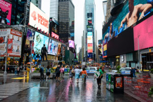 Am Times Square in New York City, USA