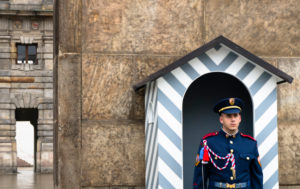 Guard in front of castle, Prague, Czechia
