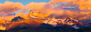 Argentina, Santa Cruz Province, Los Glaciares National Park, Fitz Roy Mountain Range at Sunrise