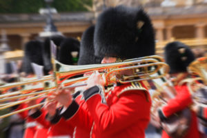 United Kingdom, London, Changing of the Guard at Buckingham Palace