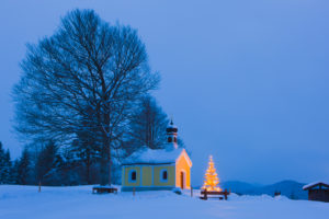 Germany, Bavaria, Garmisch-Partenkirchen, Kruen, Maria Rast Kapelle