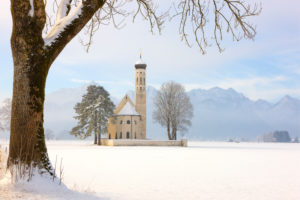 Germany, Bavaria, Schwangau, Saint Koloman Church