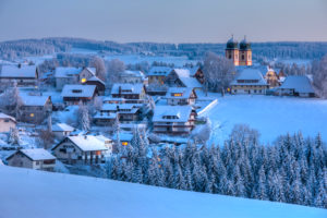 Germany, Baden-Wuerttemberg, Black Forest, Sankt Märgen in Winter